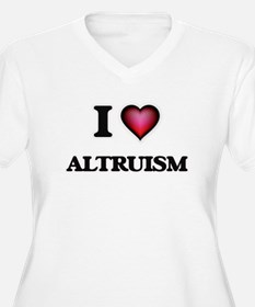 I Love Altruism Plus Size T-Shirt