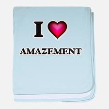 I Love Amazement baby blanket