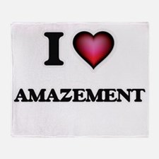 I Love Amazement Throw Blanket