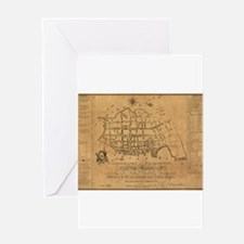 Unique Map printing Greeting Card
