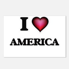 I Love America Postcards (Package of 8)