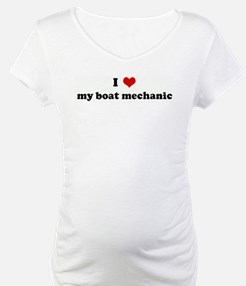 I Love my boat mechanic Shirt