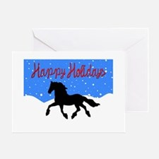 Friesian Trottin Greeting Cards
