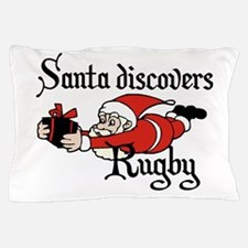 Santa discovers Rugby Pillow Case