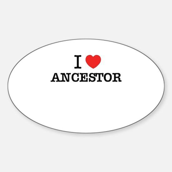 I Love ANCESTOR Decal