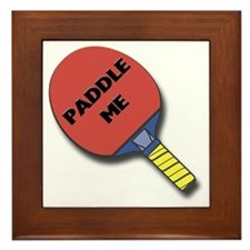 Paddle Me Ping Pong Framed Tile