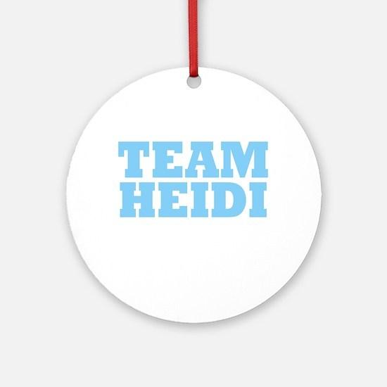 Team Heidi Ornament (Round)