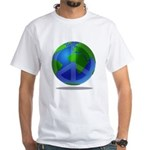 Peace Planet White T-Shirt