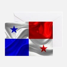Cute Panama flag Greeting Card