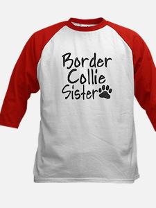 Border Collie SISTER Kids Baseball Jersey