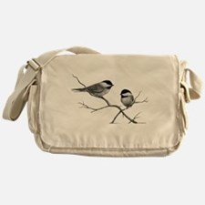 chickadee song bird Messenger Bag
