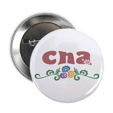 "CNA Flower Decor 2.25"" Button"