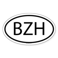 BZH Oval Bumper Stickers