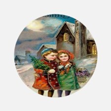 """Merry Christmas 3.5"""" Button (100 pack)"""