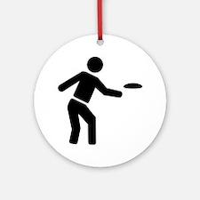 Disc golf sports Round Ornament