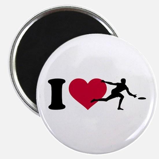 "I love Disc golf 2.25"" Magnet (10 pack)"