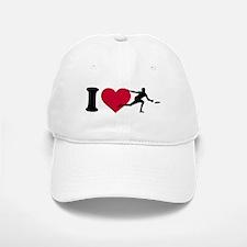 I love Disc golf Baseball Baseball Cap