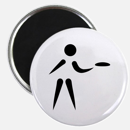 """Disc golf player 2.25"""" Magnet (10 pack)"""