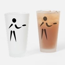 Disc golf player Drinking Glass