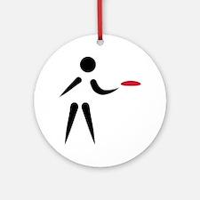 Disc golf player Round Ornament