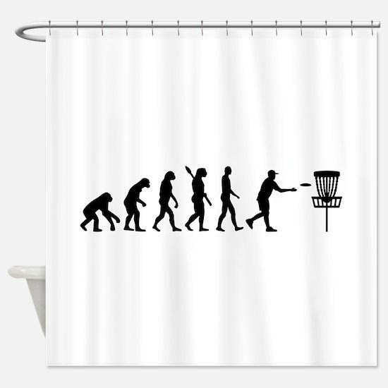 Evolution Disc golf Shower Curtain