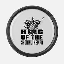 King Of The Shorinji Kempo Large Wall Clock