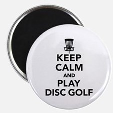 """Keep calm and play Disc gol 2.25"""" Magnet (10 pack)"""