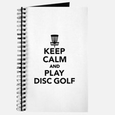 Keep calm and play Disc golf Journal