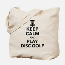 Keep calm and play Disc golf Tote Bag