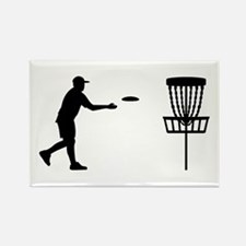 Disc golf Rectangle Magnet