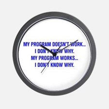 MY PROGRAM DOESN'T WORK I DON'T KNOW WHY Wall Cloc