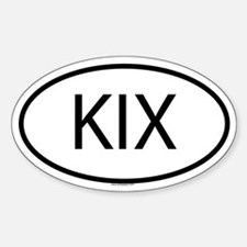 KIX Oval Decal