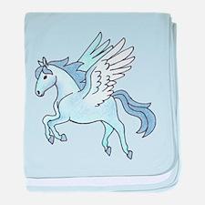 Pegasus Blue baby blanket