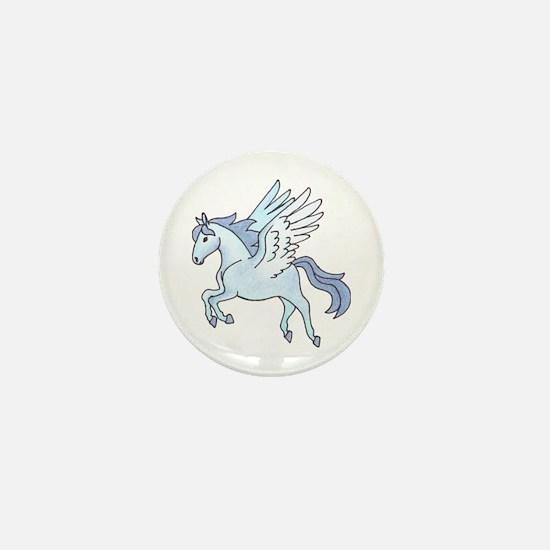 Pegasus Blue Mini Button (10 pack)