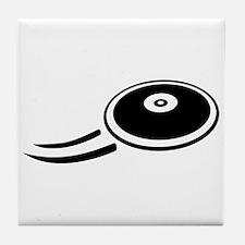 Discus throw Tile Coaster