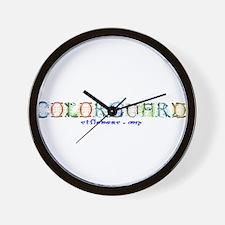 Colorguard Fancy Wall Clock