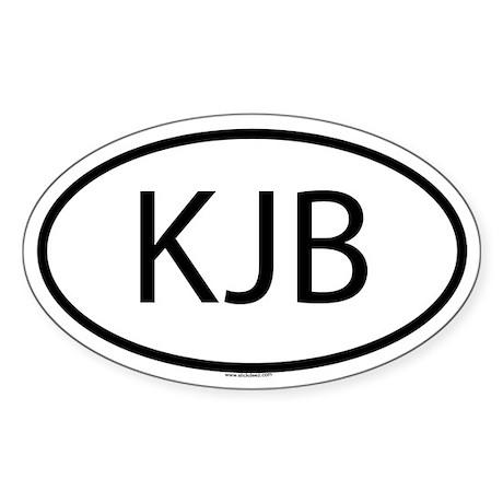 KJB Oval Sticker