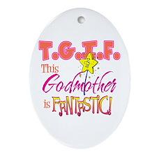 Fantastic Godmother Oval Ornament