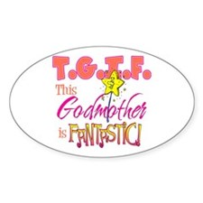 Fantastic Godmother Oval Decal