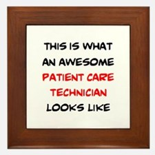 awesome patient care technician Framed Tile