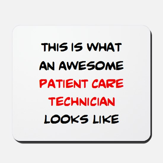 awesome patient care technician Mousepad