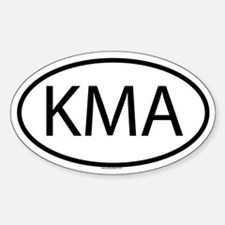 KMA Oval Decal