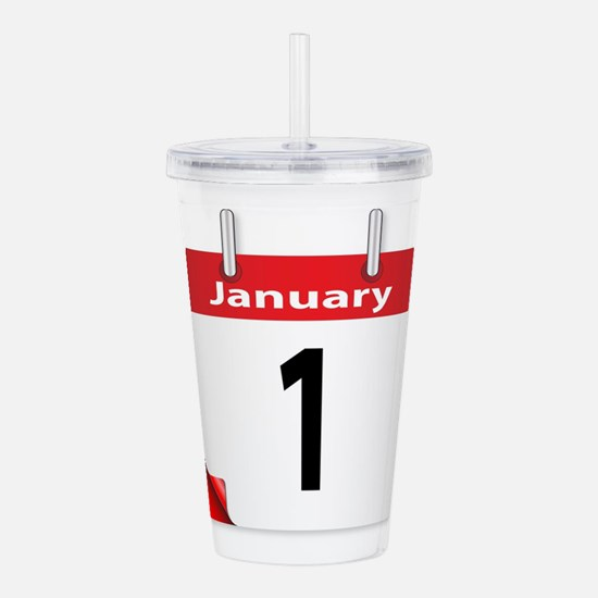Date January 1st Acrylic Double-wall Tumbler