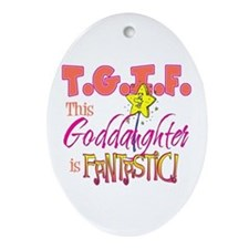 Fantastic Goddaughter Oval Ornament
