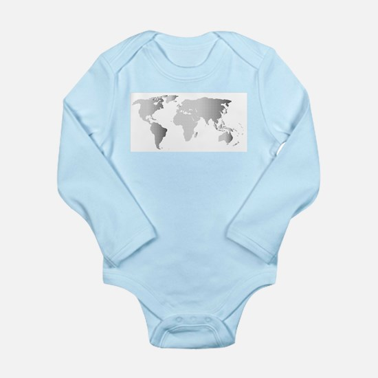 Halftone World Outline Body Suit