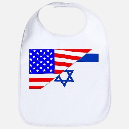 USA and Jewish Flags Bib