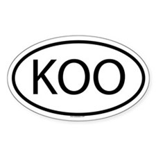 KOO Oval Decal