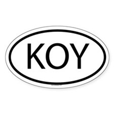 KOY Oval Decal