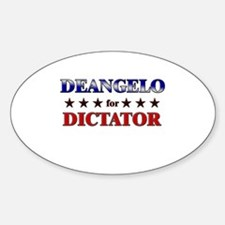 DEANGELO for dictator Oval Decal