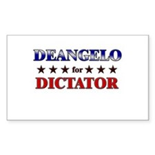 DEANGELO for dictator Rectangle Decal
